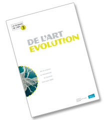 "Couverture du catalogue imprimé ""De l'art évolution"" © Timor Rocks"